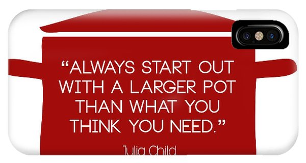 Julia Child's Larger Pot IPhone Case
