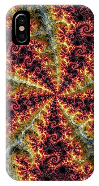 Julia Fractal iPhone X Case - Julia Fractal by Alfred Pasieka/science Photo Library