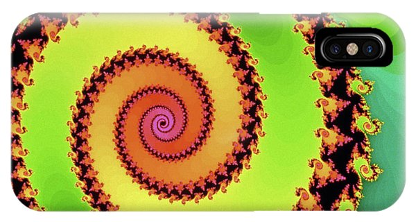Julia Fractal iPhone X Case - Julia Set:- Green Worldpool by Gregory Sams/science Photo Library
