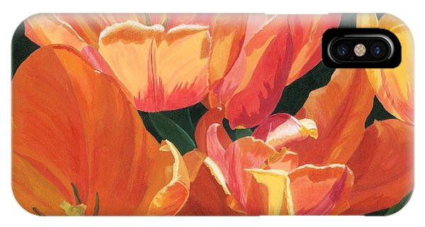 Julie's Tulips IPhone Case