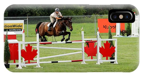 Jumping Canadian Fence IPhone Case