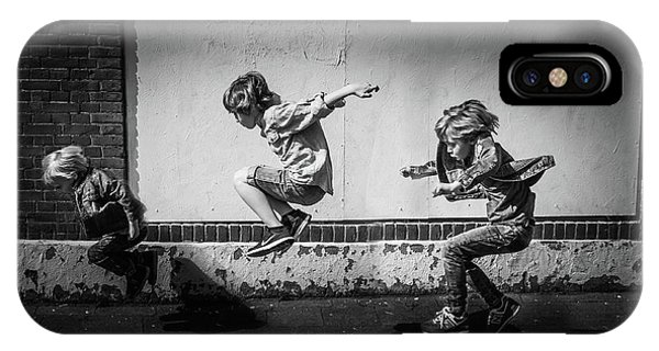 Fun iPhone Case - Jumping Over The Shadows by Gunther Gehlich
