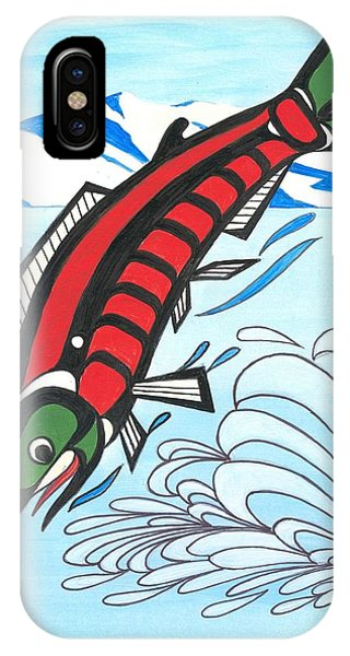 Jumping Sockeye Salmon Phone Case by Bob Patterson