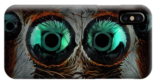 Macro iPhone Case - Jumping Spider Eyes by Javier Rup?rez