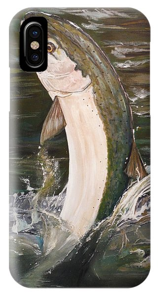 Jumping Steelhead IPhone Case