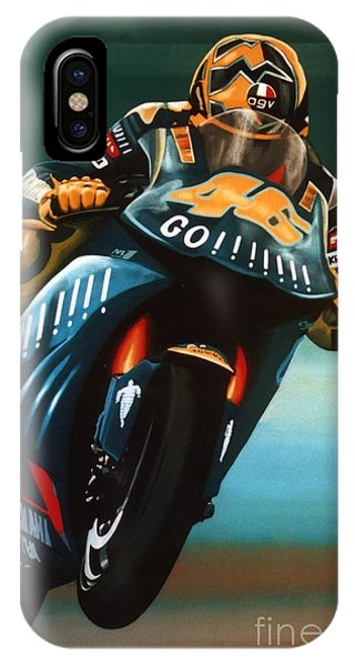 Doctor iPhone Case - Jumping Valentino Rossi  by Paul Meijering