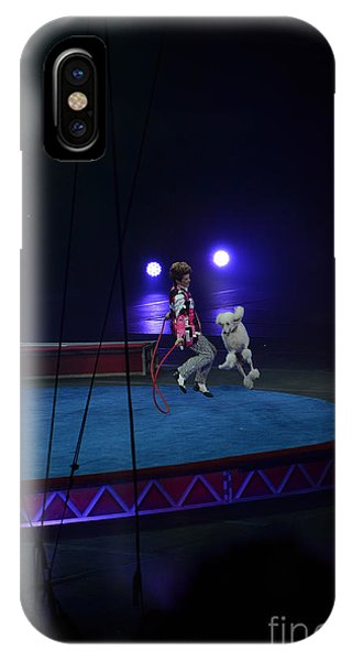 Barnum And Bailey iPhone Case - Jumprope With Fido by Robert Meanor