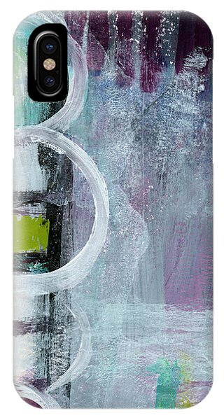 Lavender iPhone Case - Junction- Abstract Expressionist Art by Linda Woods