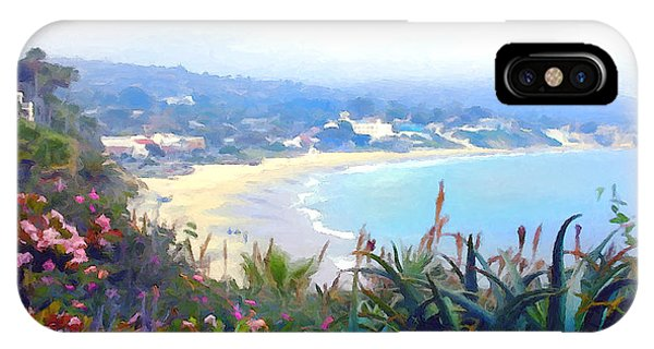 Laguna Beach iPhone Case - June Gloom Morning At Laguna Beach Coast by Elaine Plesser