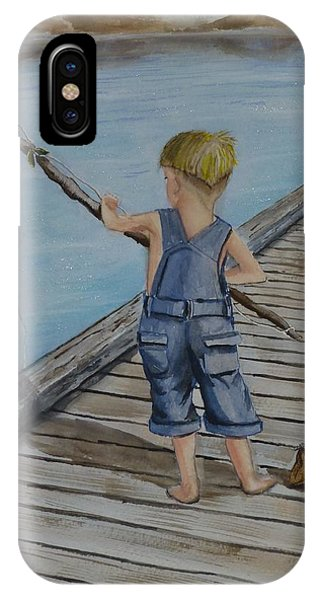 Juniors Amazing Fishing Pole IPhone Case