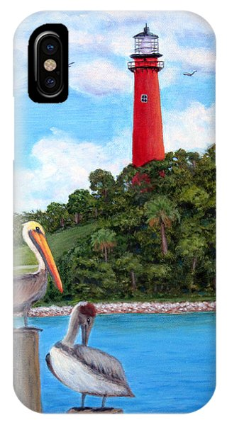 Jupiter Inlet Pelicans IPhone Case