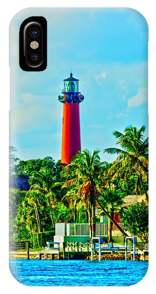 Jupiter Lighthouse Winter IPhone Case