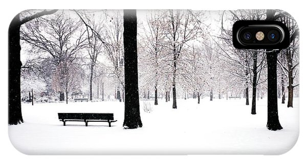 Jupiter Park In Snow IPhone Case