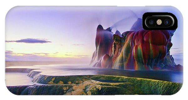 Spring Mountains iPhone Case - Jurassic Sunrise by Andrew J. Lee