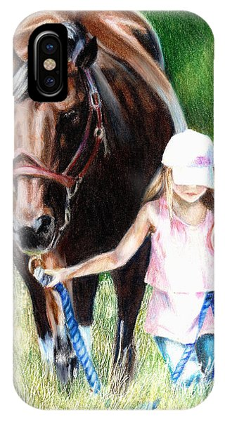 Just A Girl And Her Horse IPhone Case