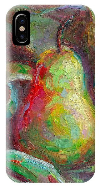 Just A Pear - Impressionist Still Life IPhone Case