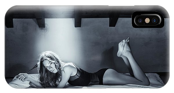 Bed iPhone Case - Just Sara... by Fabrizio Micheli