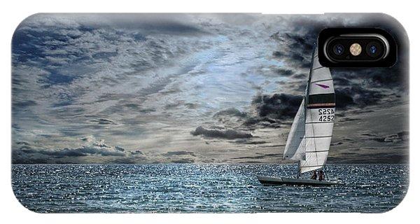 Catamaran iPhone Case - Just The Two Of Us by Joachim G Pinkawa