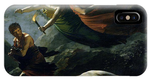 Damage iPhone Case - Justice And Divine Vengeance Pursuing Crime by Pierre-Paul Prud'hon