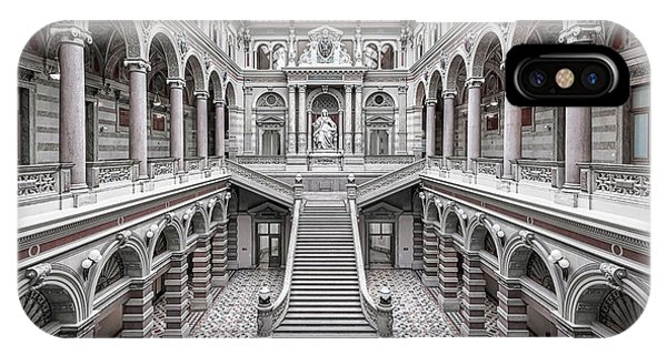 Palace iPhone X Case - Justizpalast, Vienna. by Massimo Cuomo