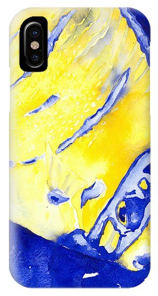 Juvenile Queen Angelfish IPhone Case