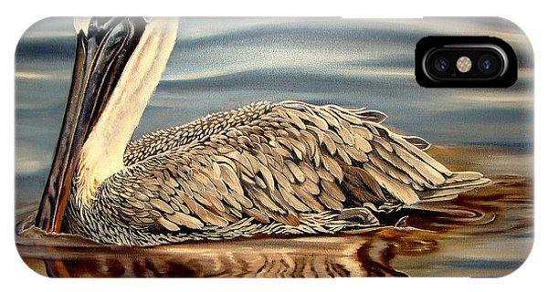 Pylon iPhone Case - Juvenile Pelican by Phyllis Beiser
