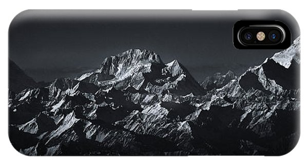 Panorama iPhone Case - K2 The Abruzzi Spur by Martin Van Hoecke