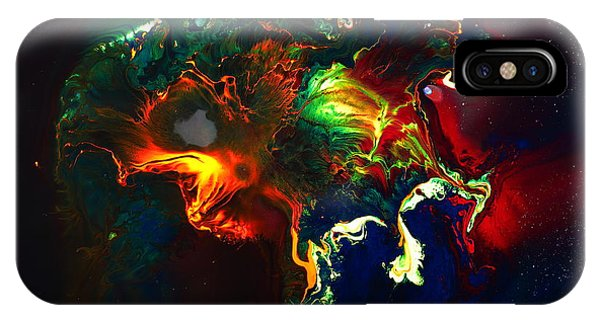 Kaboom - Bright Colorful Abstract Art By Kredart IPhone Case