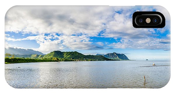 Kahaluu Fish Pond Panorama IPhone Case