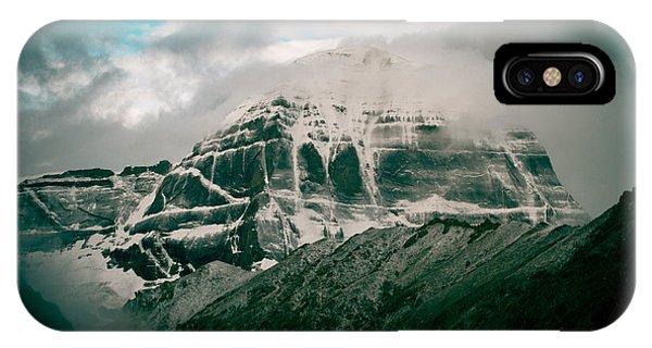 Kora iPhone Case - Kailas Mountain Tibet Home Of The Lord Shiva by Raimond Klavins