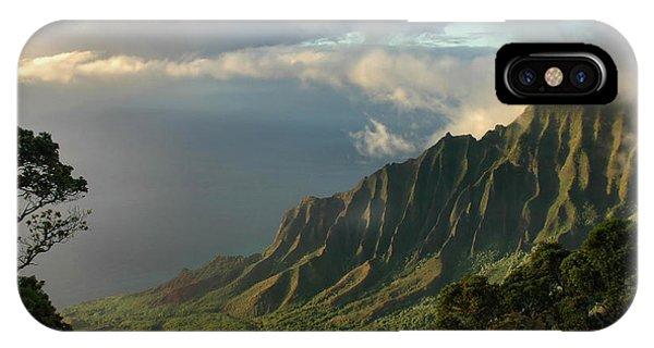 Kalalau Lookout At Sunset IPhone Case