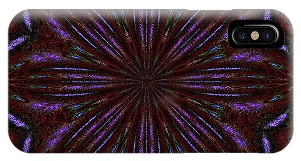 Kaleidoscope Peacoack Three IPhone Case