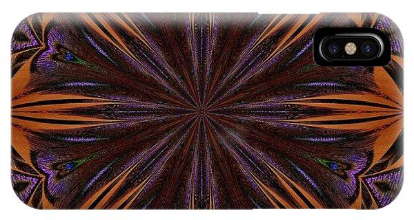 Kaleidoscope Peacock IPhone Case