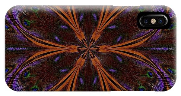 Kaleidoscope Peacock Two IPhone Case