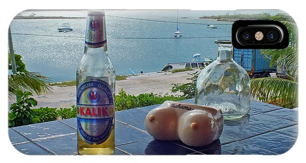 Kalik Beer Bottle At The Front Porch IPhone Case