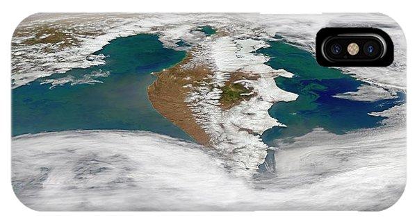 Phytoplankton iPhone Case - Kamchatka Peninsula Phytoplankton Bloom by Norman Kuring, Nasa Ocean Color Group