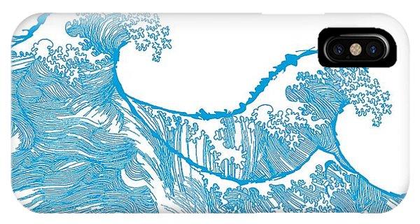Tidal Waves iPhone Case - Kanagawa Wave by Sarah Hough