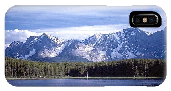 Kananaskis Mountains Lake IPhone Case