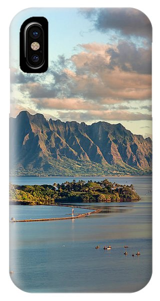 Kaneohe Bay Panorama Mural 2 Of 5 IPhone Case
