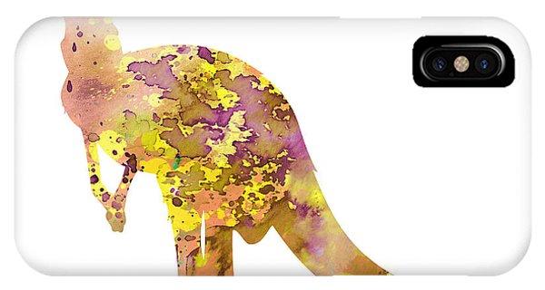 Kangaroo iPhone Case - Kangaroo by Watercolor Girl