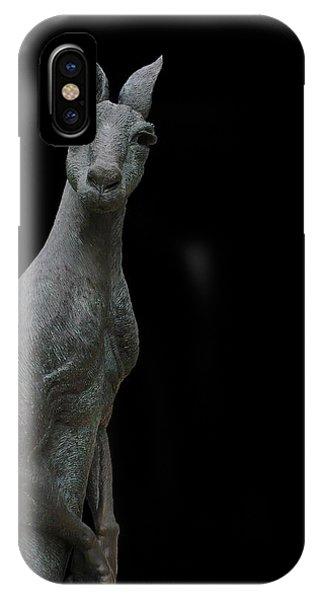 Kangaroo Smith On Black Phone Case by Gregory Smith