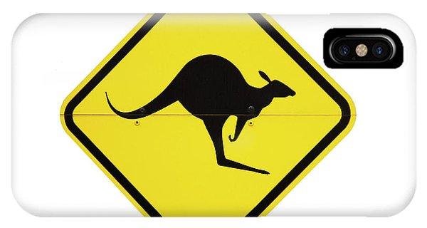 Cutout iPhone Case - Kangaroo Warning Sign, Australia by David Wall