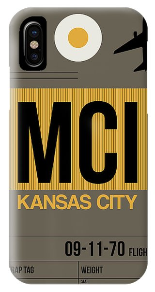 Missouri iPhone Case - Kansas City Airport Poster 1 by Naxart Studio