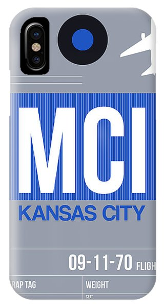 Missouri iPhone Case - Kansas City Airport Poster 2 by Naxart Studio