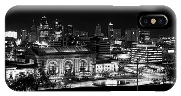 Kansas City In Black And White IPhone Case