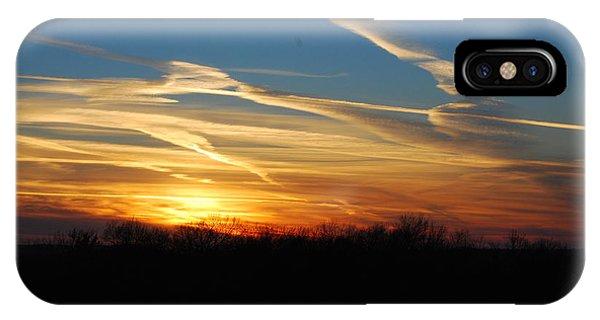 Kansas November Sunset IPhone Case