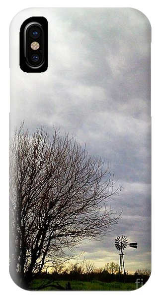 Kansas Prairie Windmill IPhone Case