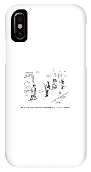 Debts iPhone Case - Kanye's Crushing Personal Debt by David Sipress