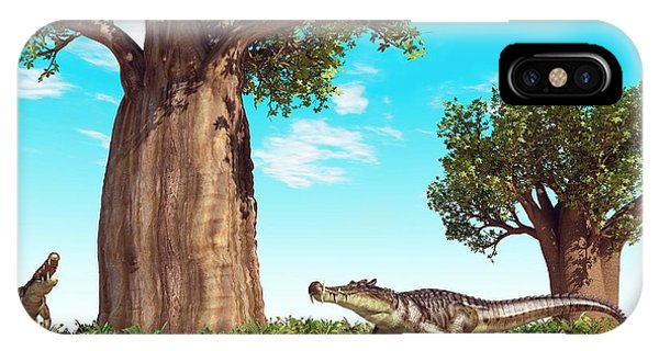 Kaprosuchus Prehistoric Crocodiles IPhone Case