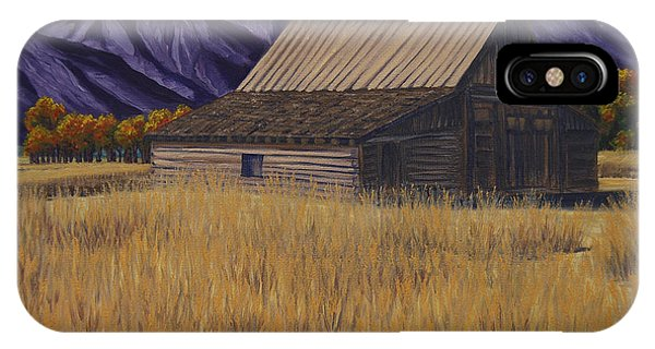 Karen's Teton Barn IPhone Case